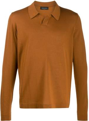 Roberto Collina long sleeve polo shirt