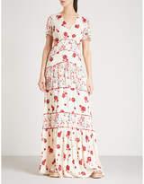BA&SH Blush printed crepe maxi dress