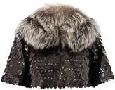 Marc Jacobs Owl sequin cropped fur jacket