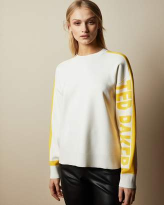 Ted Baker CLANTHY Colour block branded jumper