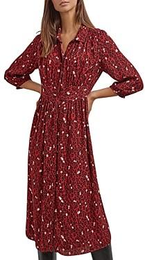 Gerard Darel Teresa Floral Print Shirt Dress