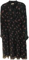Masscob Black Silk Dress for Women