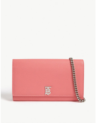Burberry Hannah TB logo leather wallet-on-chain