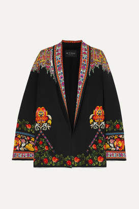 Etro Floral-print Twill-trimmed Cady Jacket - Black