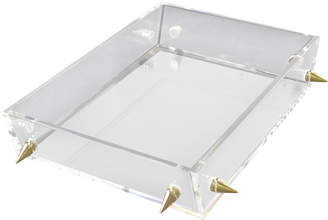 R16 Lucite Large Gold Stud Tray