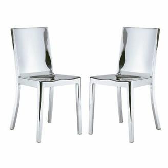 Orren Ellis Portillo Metal Side Chair in Polished Stainless Steel