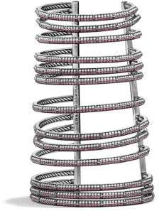 David Yurman Stax Multi-Row Pave Bracelet With Ruby And Diamonds,