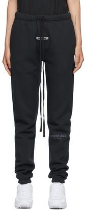 Essentials Black Fleece Lounge Pants