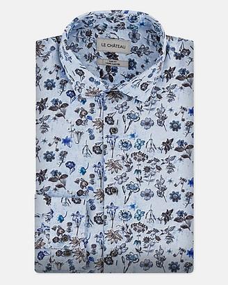 Le Château Floral Print Tailored Fit Shirt