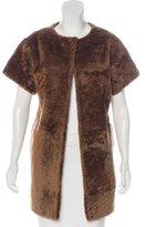 Thomas Wylde Shearling Short Sleeve Coat w/ Tags
