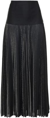 Alexandre Vauthier Pleated Lame Maxi Skirt