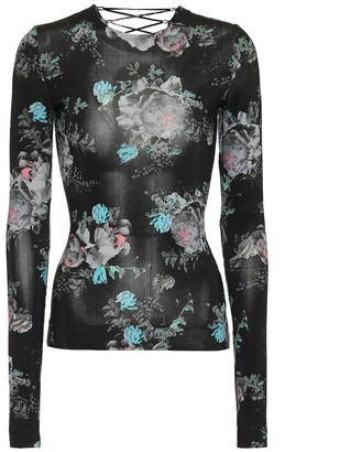 Preen by Thornton Bregazzi Genevieve floral stretch-crApe top