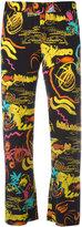 Aspesi abstract print trousers - women - Silk - 38