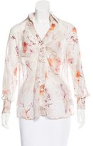Salvatore Ferragamo Printed Chiffon Top