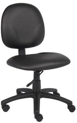 Task Chair Symple Stuff Upholstery Color: Black Caressoft, Arms: Not Included