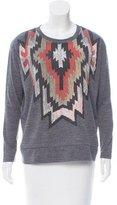 Sandro Long Sleeve Graphic Sweatshirt