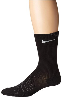 Nike Spark Cushion Crew Socks (Black/Reflective) Crew Cut Socks Shoes