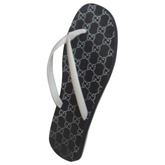 Gucci Anthracite Rubber Sandals