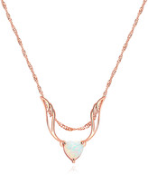 Peermont Women's Necklaces Rose - Fire Opal & 18k Rose Gold-Plated Guardian Angel Pendant Necklace