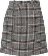 Carven Plaid Mini Skirt