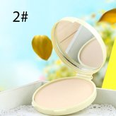 Concealer Loose Powder, Setting Powder, Redcolourful Concealer Makeup Fixing Soy Milk Pressed Powder Bronzer Whitening Makeup Oil Controlling Moisturizing Powder , 2#