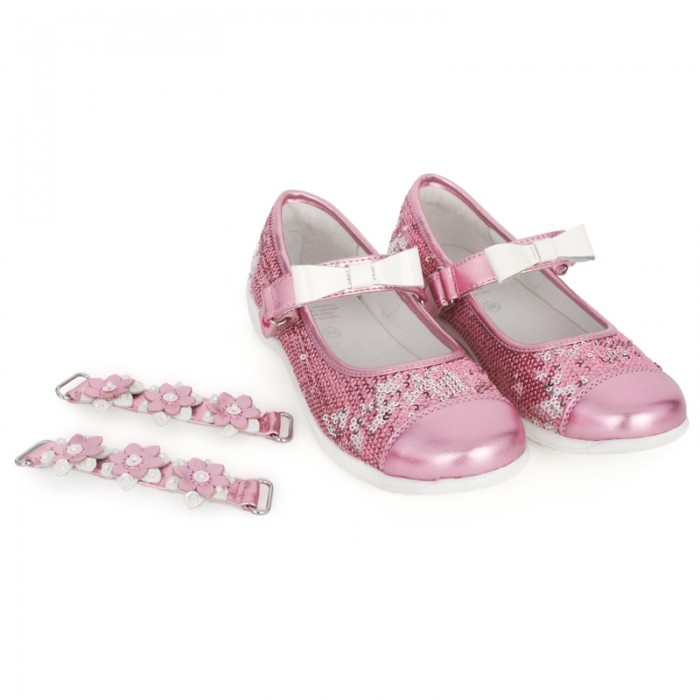 Lelli Kelly Kids Sequined Shoes with Changeable Straps