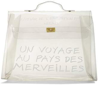 Hermes Limited Edition Clear Vinyl L'Exposition 1997 Kelly 40cm