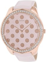 GUESS GUESS? U0258L3,Women's Very Large Dial, Patent Leather Strap Watch.
