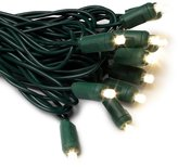 GKI Bethlehem Lighting GKI/Bethlehem Lighting Indoor/Outdoor 50-Lamp 5mm Wide-Angle LED Lighting Set, Warm Twinkle Lights, Green Cord