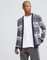 Asos Cardigan With Jacquard Pattern