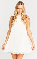 MUMU V-Right Back Mini Dress ~ Sparkle & Shine Ivory