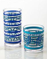 Jonathan Adler Blue Mykonos Acrylic Rocks Glass