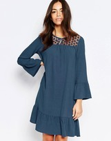 Esprit Lace Yoke Shift Dress