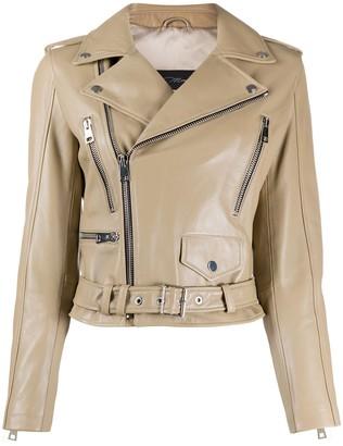 Manokhi Classic Biker Jacket