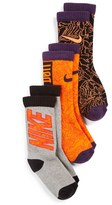 Nike Boy's 3-Pack Cushioned Crew Socks