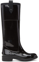 Jimmy Choo Black Edith Rain Boots