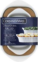 Corningware French White lll 2-pc. Rectangular Bakeware Set