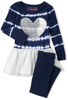 Flapdoodles Toddler Girls) 2-Piece Tie-Dye Dress & Leggings Set