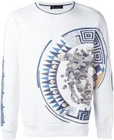 Versace Greca Medusa side print sweatshirt - men - Cotton - XS
