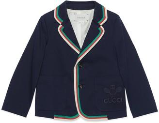 Gucci Children's gabardine jacket with Tennis