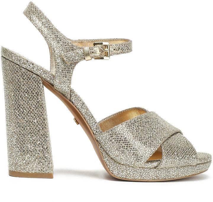 MICHAEL Michael Kors Alexia Sequined Platform Sandals
