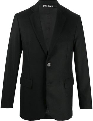 Palm Angels Embroidered Logo Single-Breasted Blazer