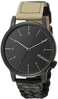 Komono Unisex KOM-W2202 Winston Galore Series Analog Display Japanese Quartz Multi-Color Watch