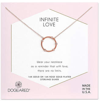 Dogeared 14K Rose Gold Over Silver Crystal Necklace