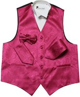 Porto filo paisley design 4 pcs set men's tuxedo vest