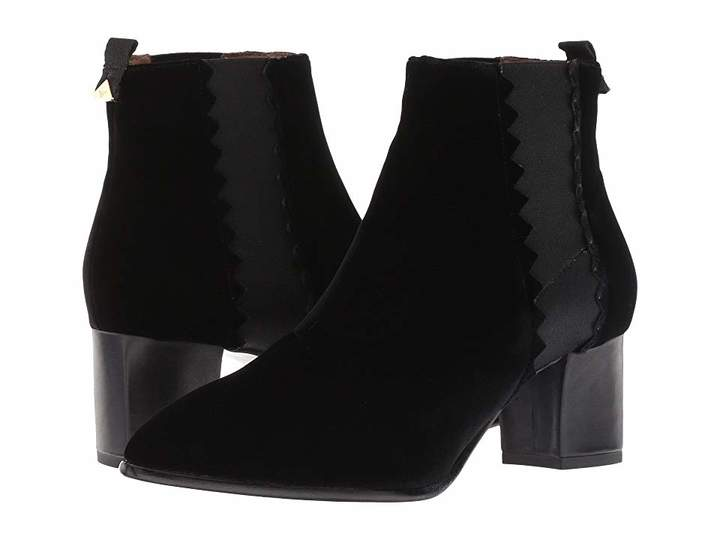 Emporio Armani Velvet Pull-On Ankle Boot