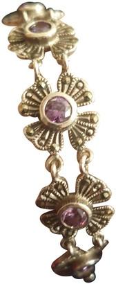 Non Signã© / Unsigned Gourmette Purple Silver Bracelets