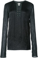 Jason Wu lace-up long sleeve top