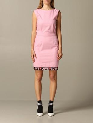 Love Moschino Dress Sheath Dress With Logoed Band