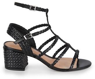Schutz Clarcie Gladiator-Style Leather Sandals